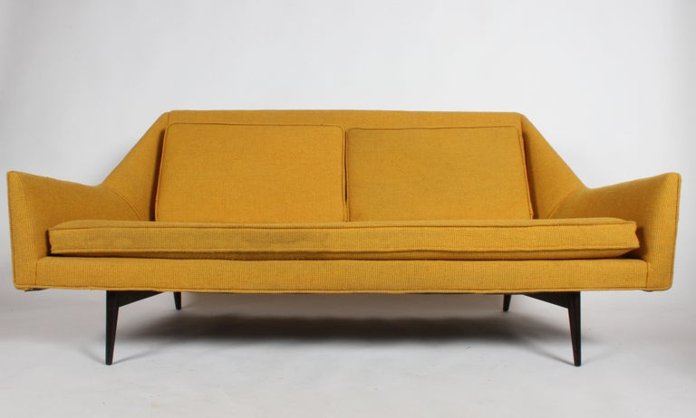 Upholstery Rare Paul McCobb Cubist Sofa or Settee For Sale