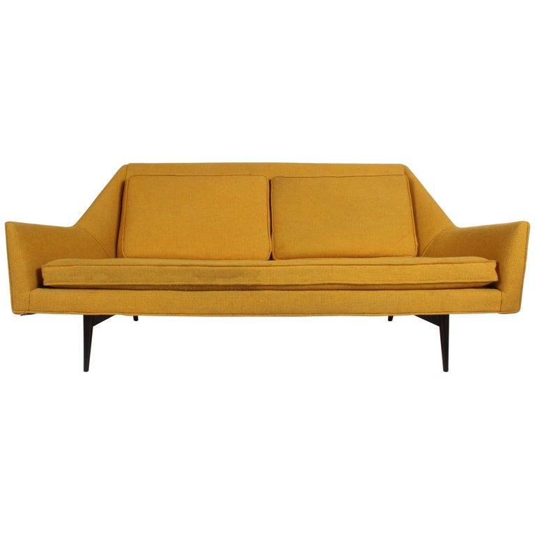 Rare Paul McCobb Cubist Sofa or Settee For Sale
