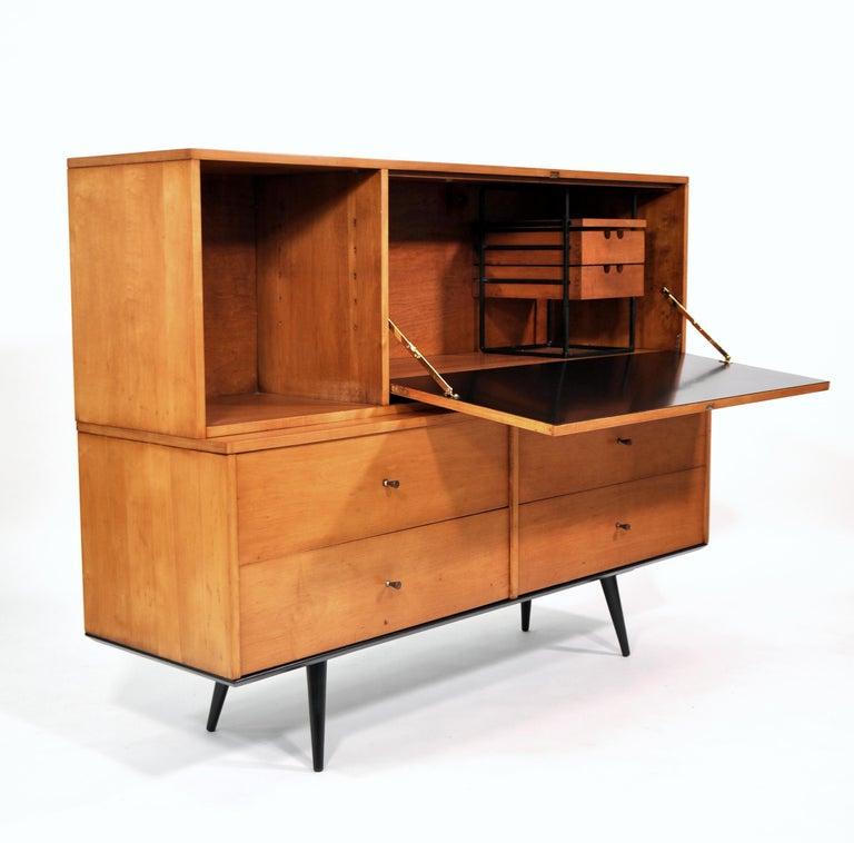Rare Paul McCobb Drop Lid Desk Cabinet For Sale 3