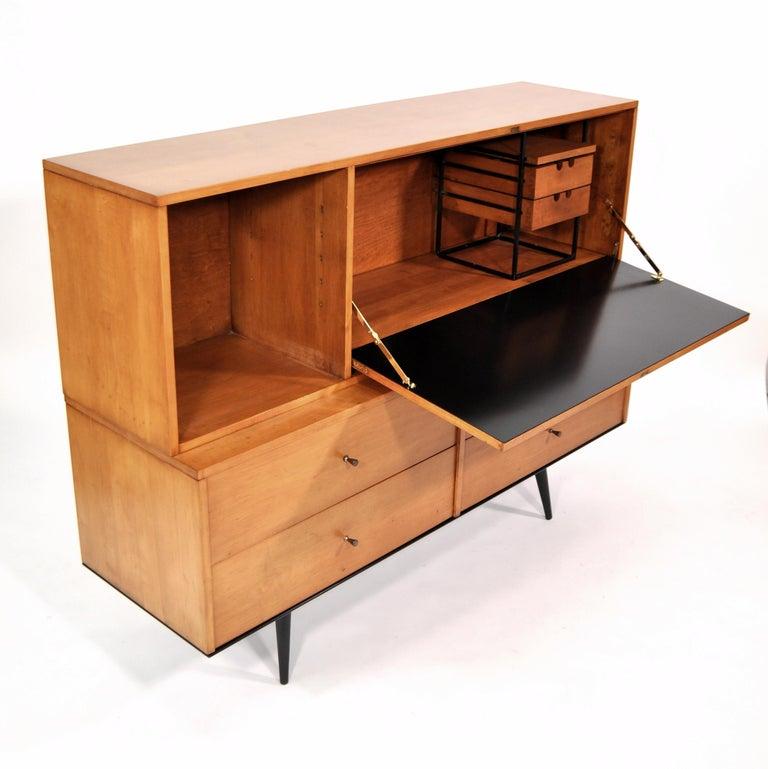 Rare Paul McCobb Drop Lid Desk Cabinet For Sale 4