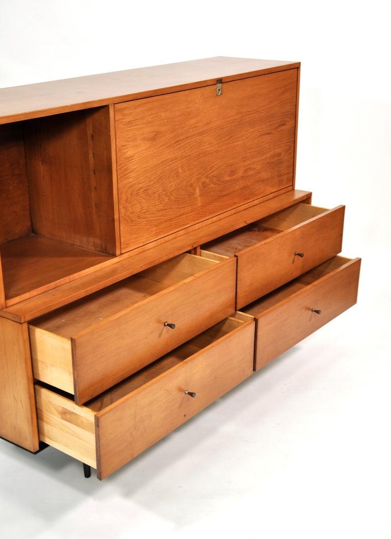 Rare Paul McCobb Drop Lid Desk Cabinet For Sale 6
