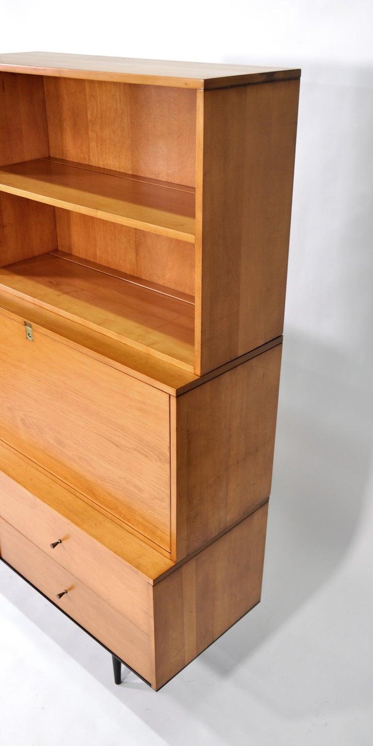 Rare Paul McCobb Drop Lid Desk Cabinet For Sale 7