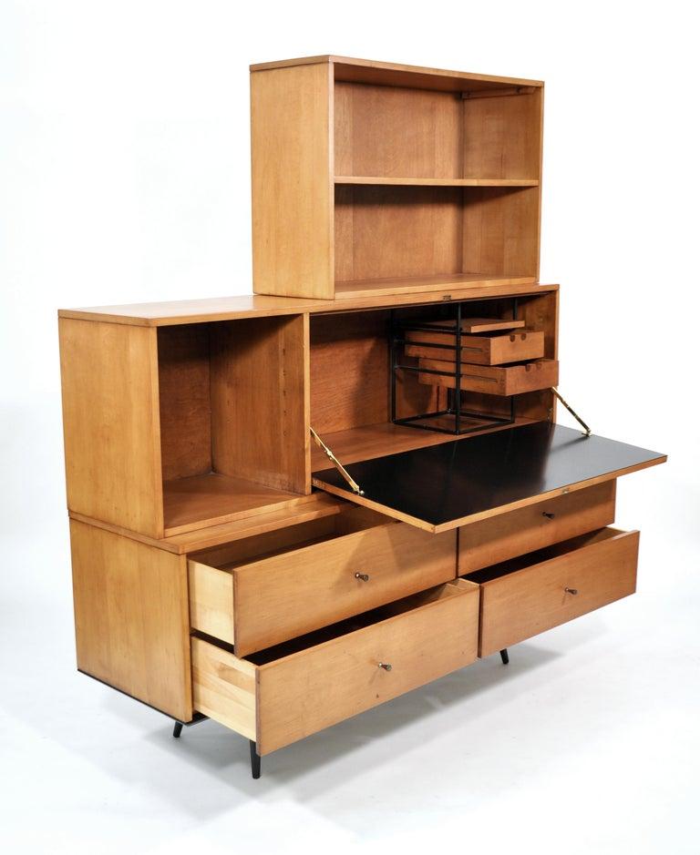 Rare Paul McCobb Drop Lid Desk Cabinet For Sale 11