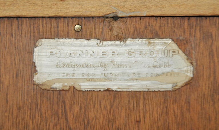 Rare Paul McCobb Drop Lid Desk Cabinet For Sale 13