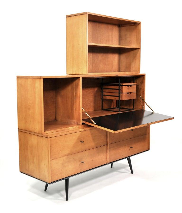 Rare Paul McCobb Drop Lid Desk Cabinet In Good Condition For Sale In Miami, FL