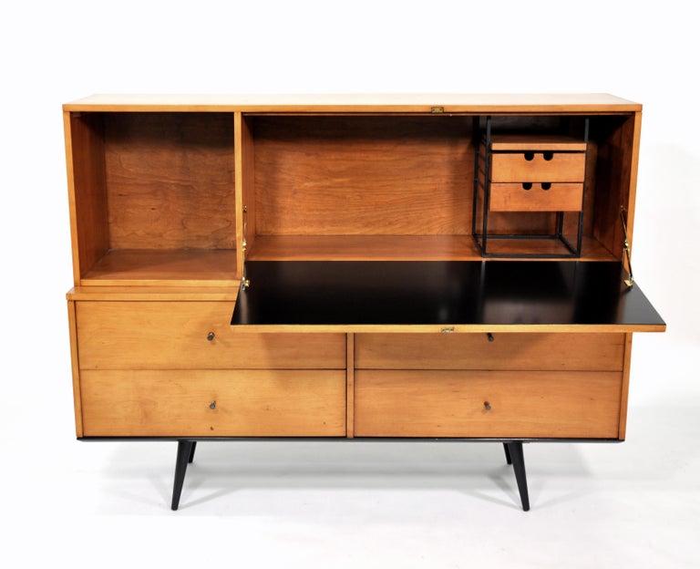 Iron Rare Paul McCobb Drop Lid Desk Cabinet For Sale