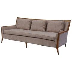 Rare Paul McCobb Walnut Framed Sofa