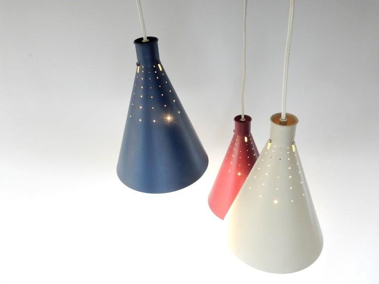 Mid-Century Modern Rare Pendant Lamp by Alf Svensson for Bergboms, Sweden, 1950s For Sale