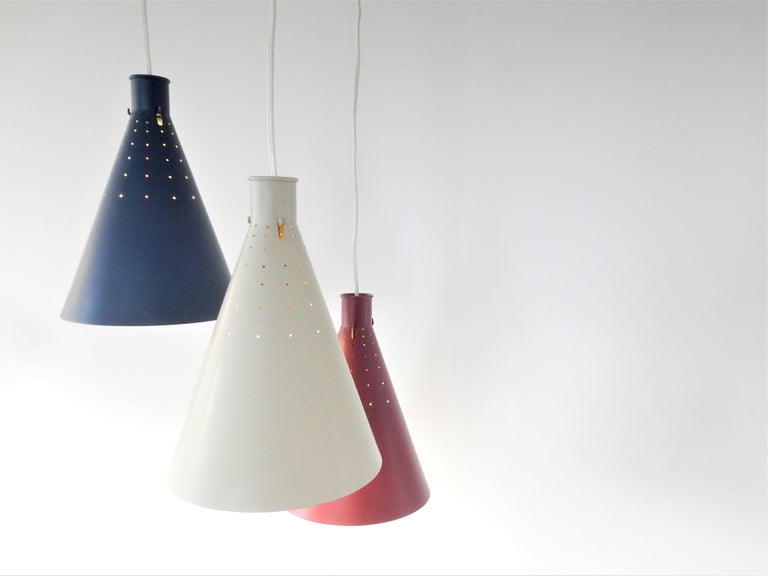Mid-20th Century Rare Pendant Lamp by Alf Svensson for Bergboms, Sweden, 1950s For Sale