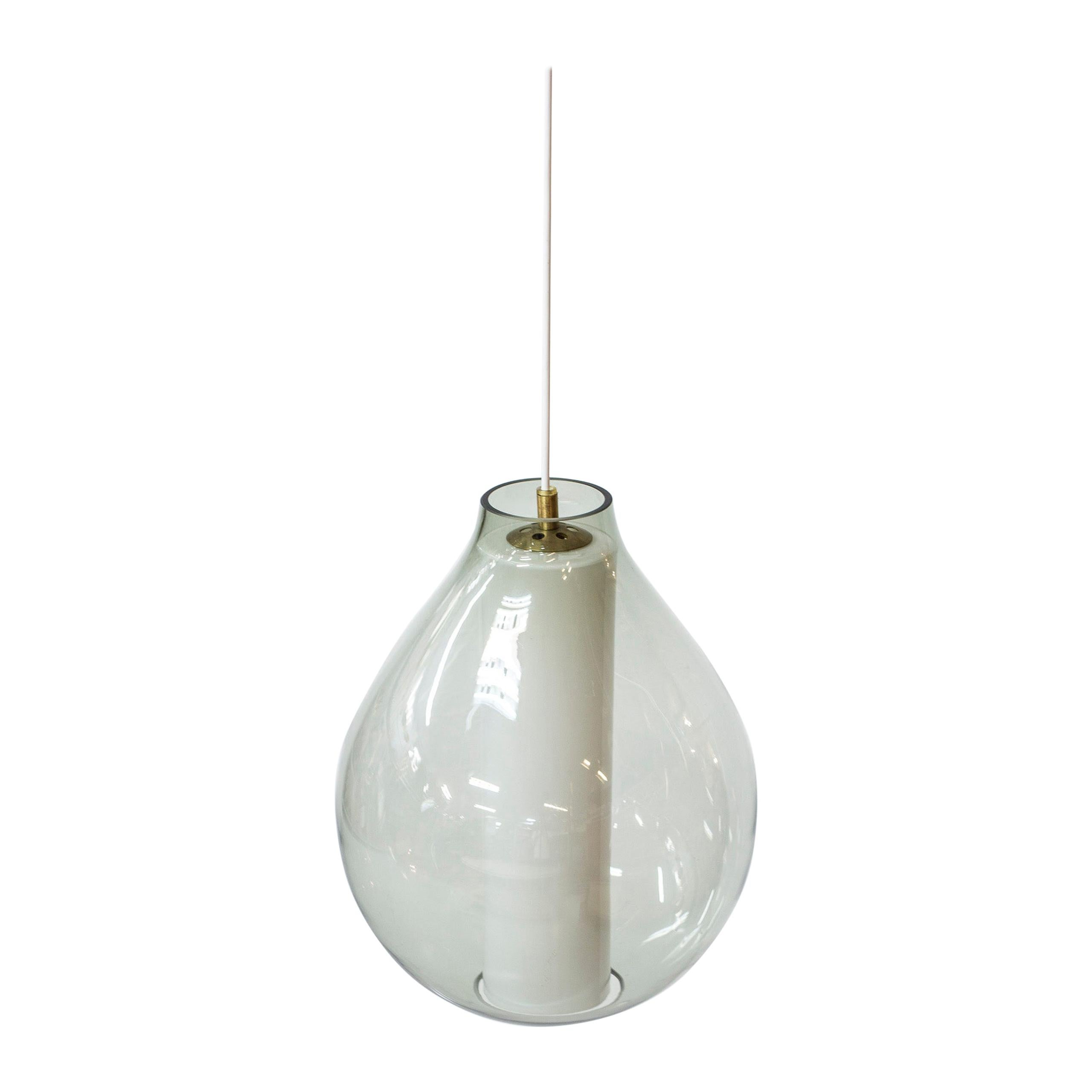 Rare Pendant Lamp Designed by Carl Fagerlund for Orrefors, Sweden, 1950s