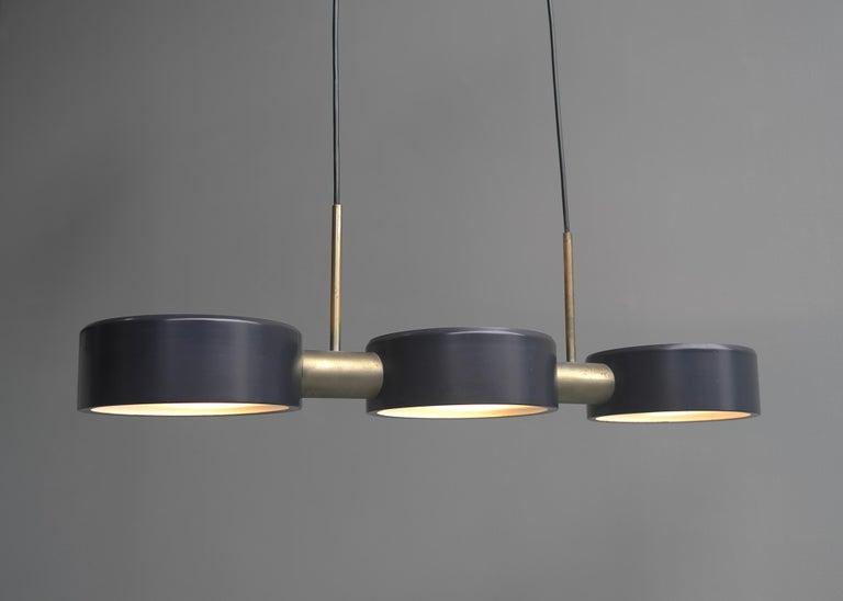 Rare pendant light by Bruno Gatta for Stilnovo, Italy, 1960s.