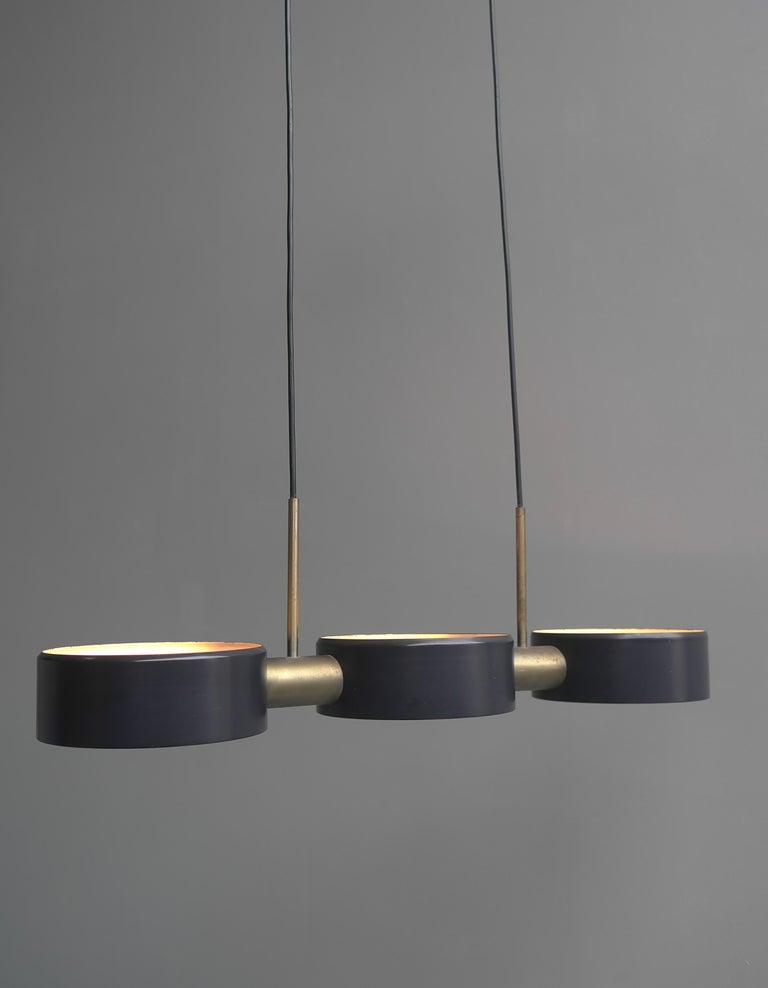 Mid-Century Modern Rare Pendant Light by Bruno Gatta for Stilnovo, Italy, 1960s For Sale