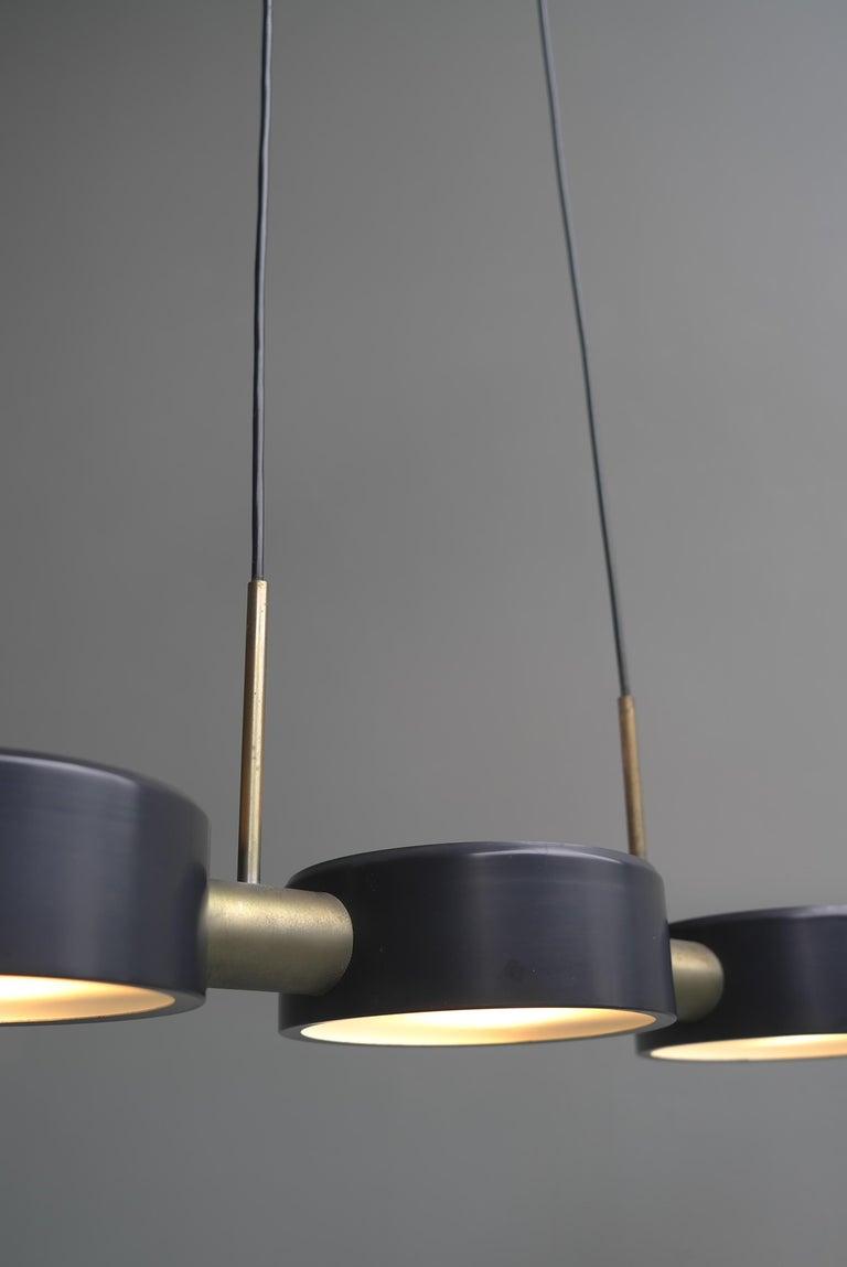 Mid-20th Century Rare Pendant Light by Bruno Gatta for Stilnovo, Italy, 1960s For Sale