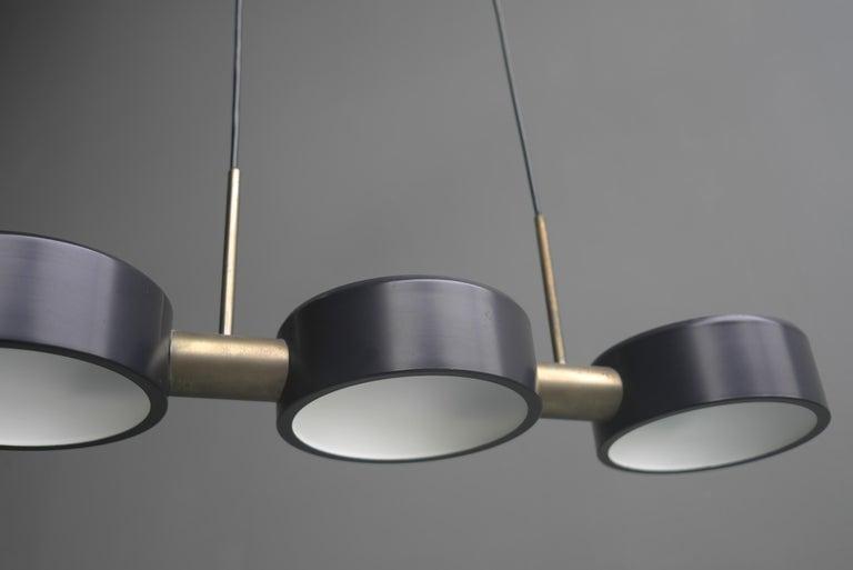 Rare Pendant Light by Bruno Gatta for Stilnovo, Italy, 1960s For Sale 1