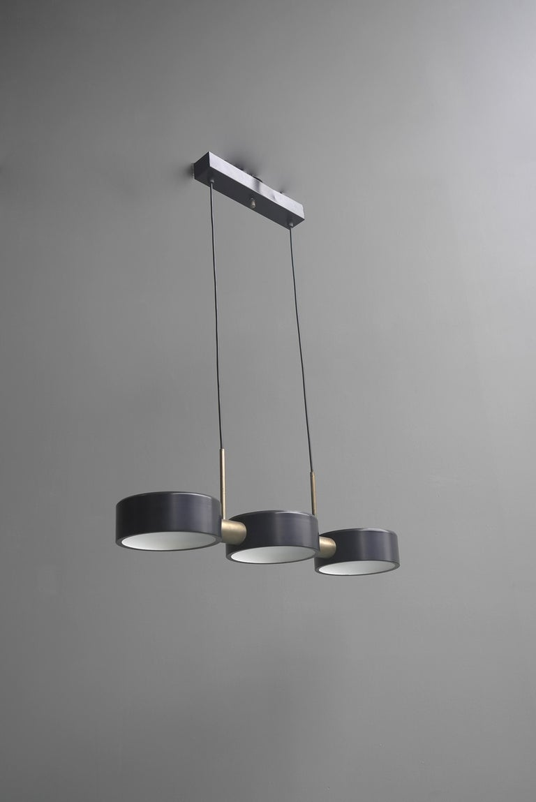 Rare Pendant Light by Bruno Gatta for Stilnovo, Italy, 1960s For Sale 2