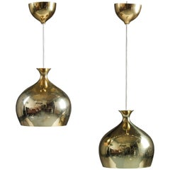 Rare Pendants in Perforated Brass by Helge Zimdal