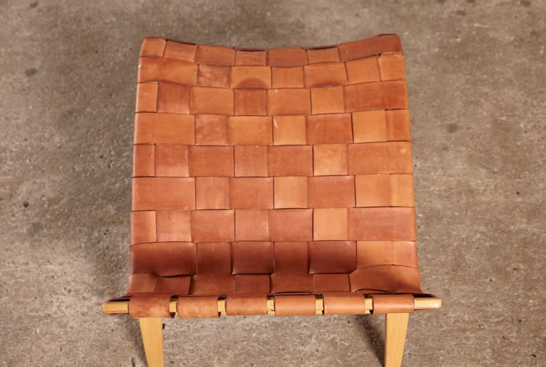 Rare Pernilla Chair in Original Leather by Bruno Mathsson, Sweden, 1950s 4