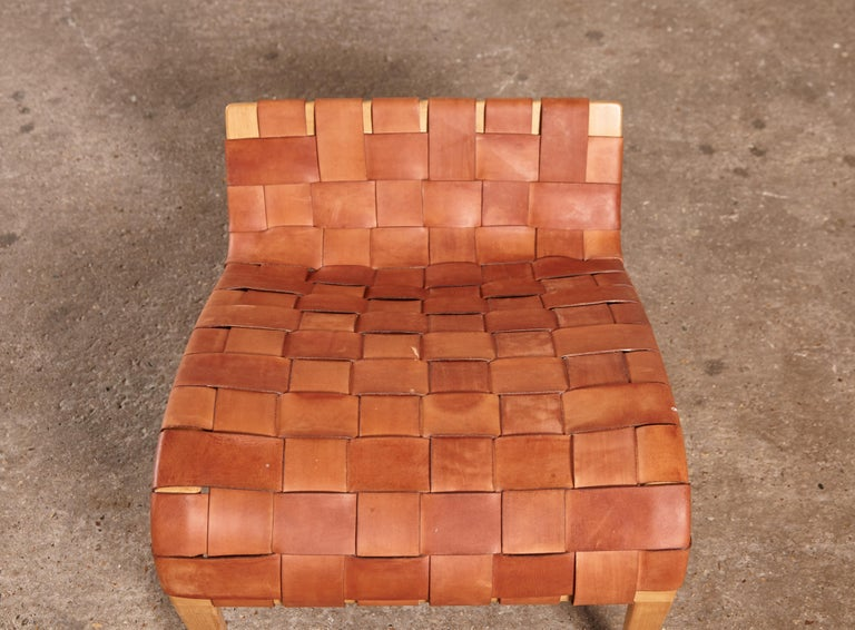 Rare Pernilla Chair in Original Leather by Bruno Mathsson, Sweden, 1950s 5