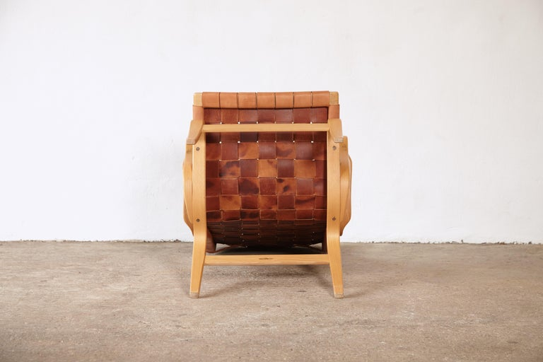 Rare Pernilla Chair in Original Leather by Bruno Mathsson, Sweden, 1950s 12