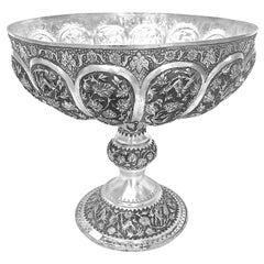 Rare Piece Handmade Persian Silver Bowl