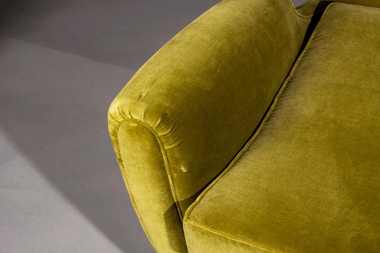 Italian Rare Pierluigi Colli Lounge Chair, 1950s, in Lelievre Velvet For Sale