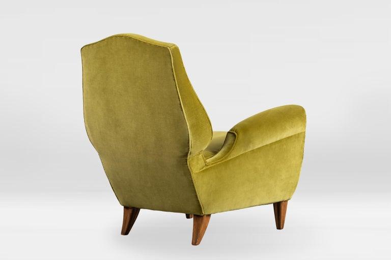 Mid-20th Century Rare Pierluigi Colli Lounge Chair, 1950s, in Lelievre Velvet For Sale