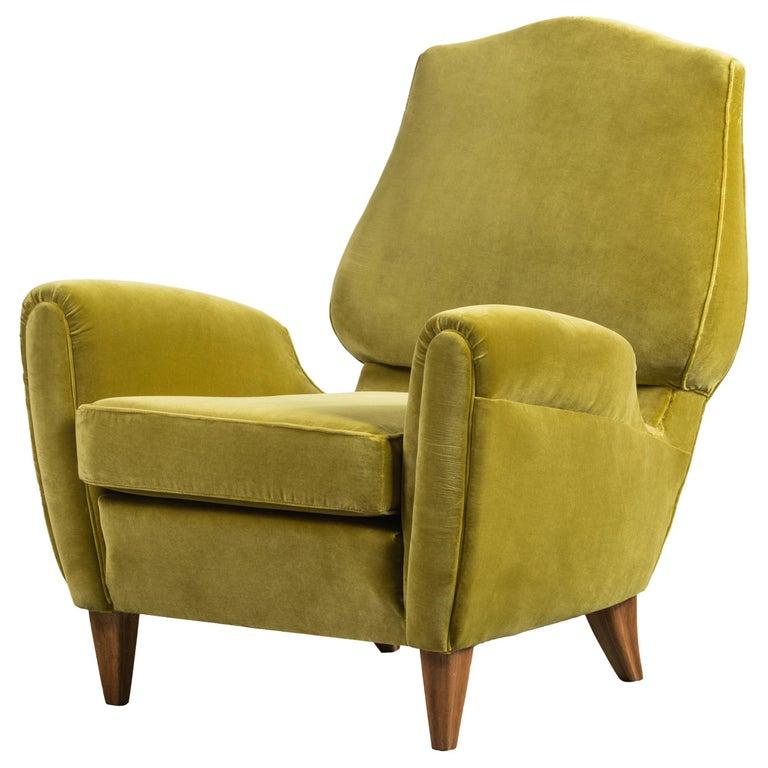 Rare Pierluigi Colli Lounge Chair, 1950s, in Lelievre Velvet For Sale