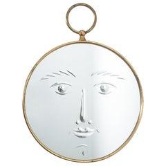 Rare Piero Fornasetti Face Mirror Viso