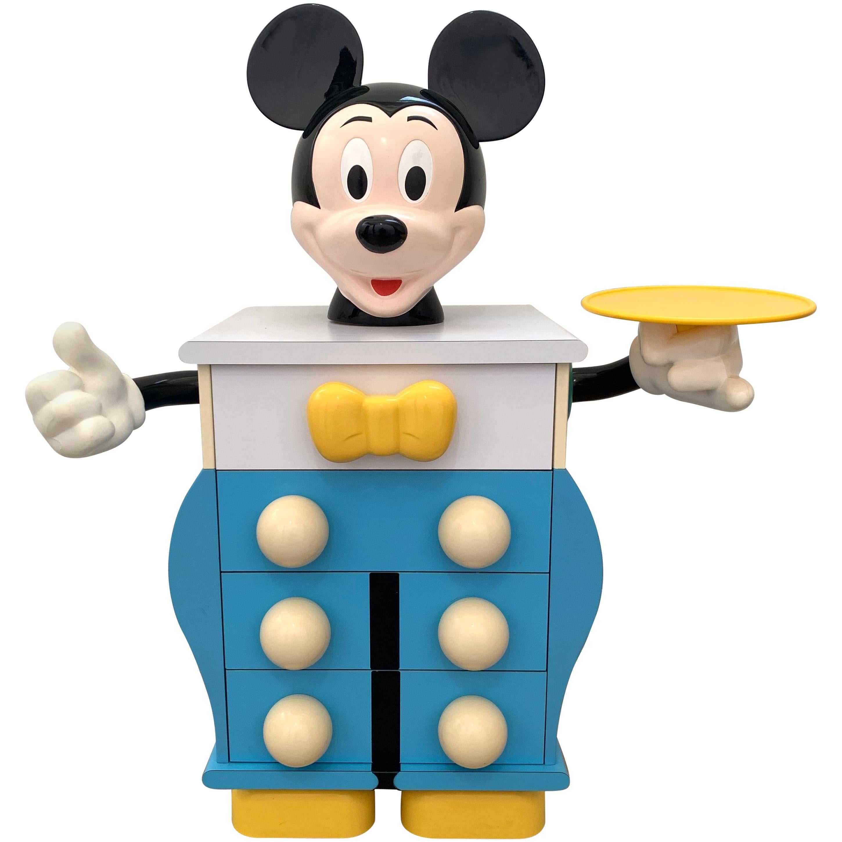 """Rare Pierre Colleu """"Mickey Mouse"""" Commode or Chest of Drawers, France, 1980s"""