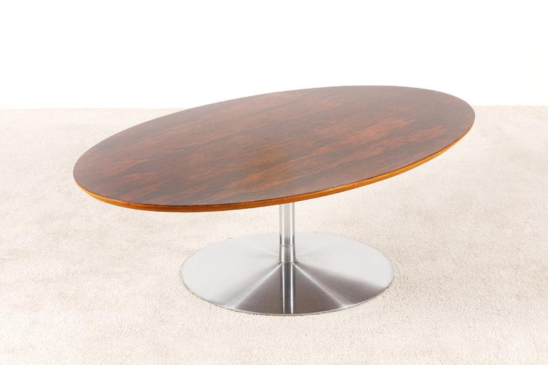 Mid-Century Modern Rare Pierre Paulin Rosewood Coffee Table for Artifort, 1960s For Sale