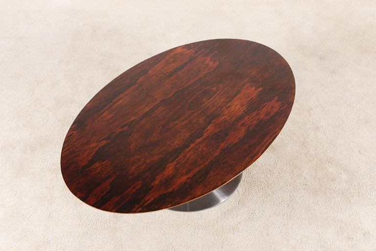 French Rare Pierre Paulin Rosewood Coffee Table for Artifort, 1960s For Sale