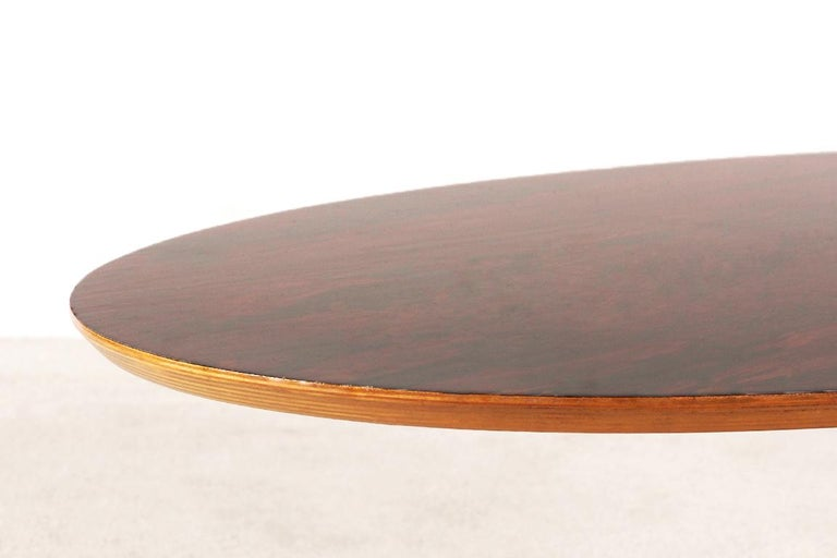 Rare Pierre Paulin Rosewood Coffee Table for Artifort, 1960s In Excellent Condition For Sale In Paris, FR