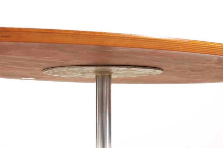 Stainless Steel Rare Pierre Paulin Rosewood Coffee Table for Artifort, 1960s For Sale