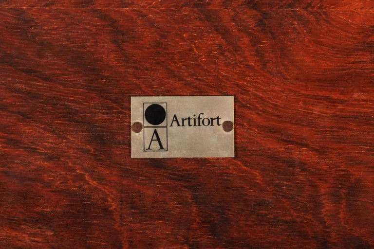 Rare Pierre Paulin Rosewood Coffee Table for Artifort, 1960s For Sale 1