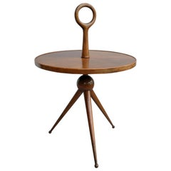 Rare Pietro Chiesa Sculptural Occasional Table Fully in Wood, Italy 1950s