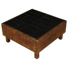Rare Pine Coffee Table from France, 1960s