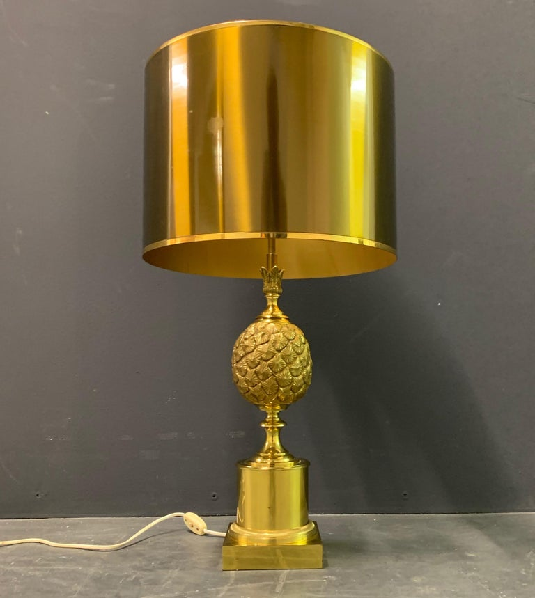 Rare Pinecone Table Lamp by Maison Charles / Signed For Sale 1
