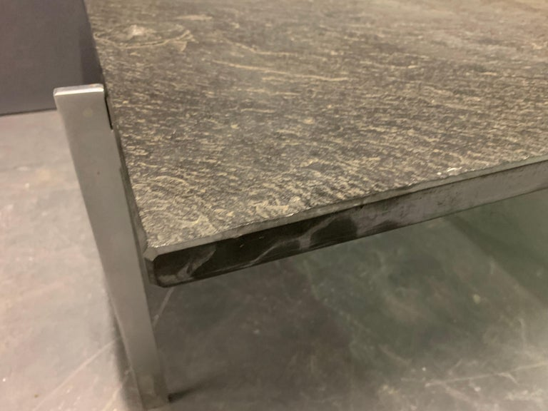 Rare PK61 Coffee Table Signed EKC with Amazing Slate Top For Sale 6