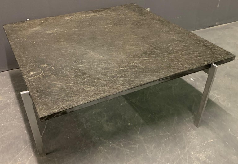Rare PK61 Coffee Table Signed EKC with Amazing Slate Top For Sale 8