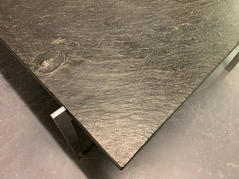 Mid-20th Century Rare PK61 Coffee Table Signed EKC with Amazing Slate Top For Sale