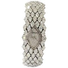 Kutchinsky for Delaneau Platinum and Diamond Bracelet Watch
