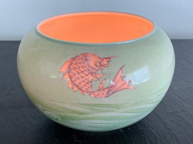 Japonisme Rare Porcelain Bowl with Plique-a-Jour Design by Makuzu Kozan For Sale