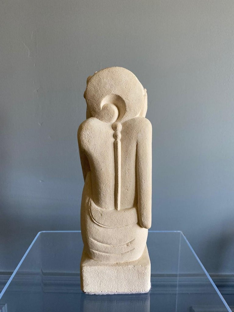 Rare Post Modern Female Plaster Sculpture In Good Condition In San Diego, CA