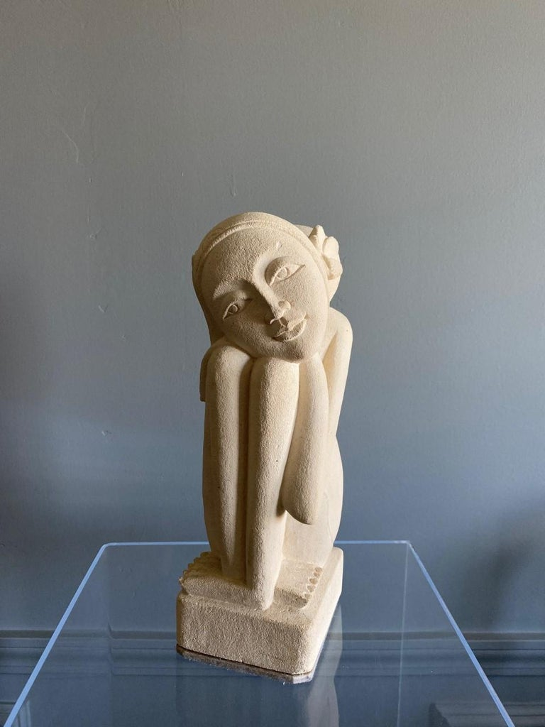 Late 20th Century Rare Post Modern Female Plaster Sculpture