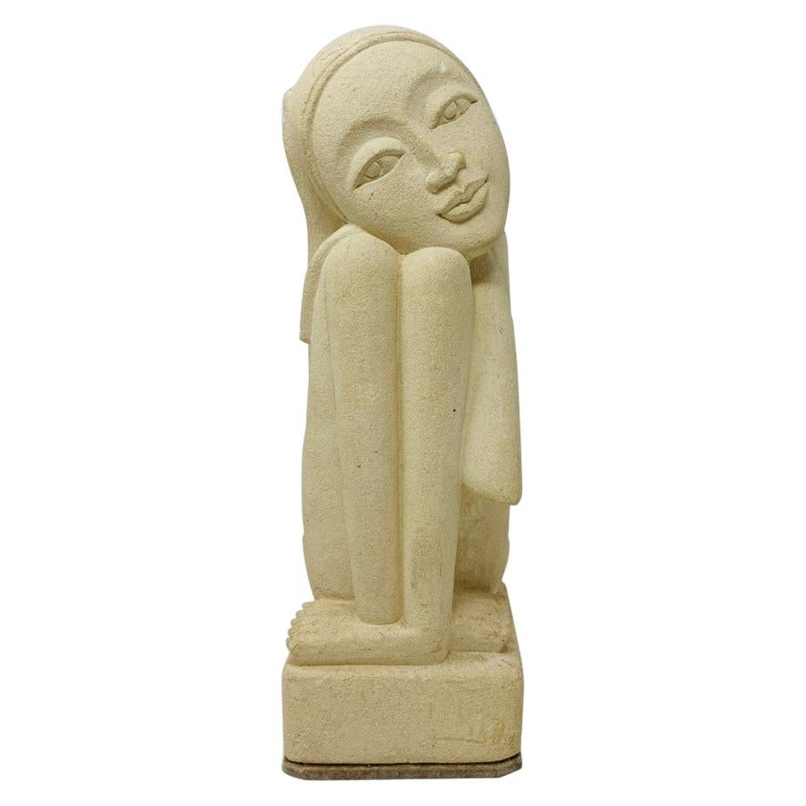 Rare Post Modern Female Plaster Sculpture