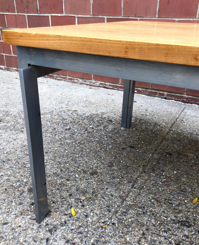 Rare Poul Kjaerholm PK59 Oak-topped Coffee Table In Good Condition For Sale In Hudson, NY