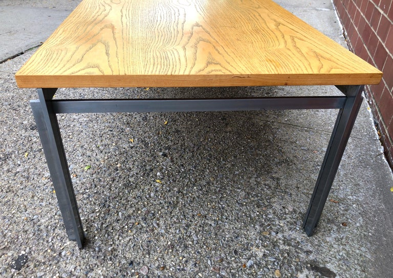 Rare Poul Kjaerholm PK59 Oak-topped Coffee Table For Sale 2