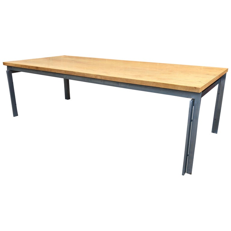 Rare Poul Kjaerholm PK59 Oak-topped Coffee Table For Sale