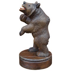 Rare & Practical Size Antique Black Forest Bear Table or Desk Piece / Sculpture