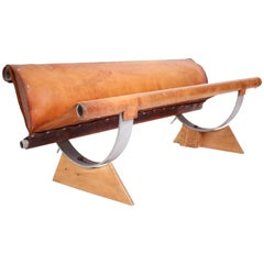 Rare Leather Bench by Max Gottschalk